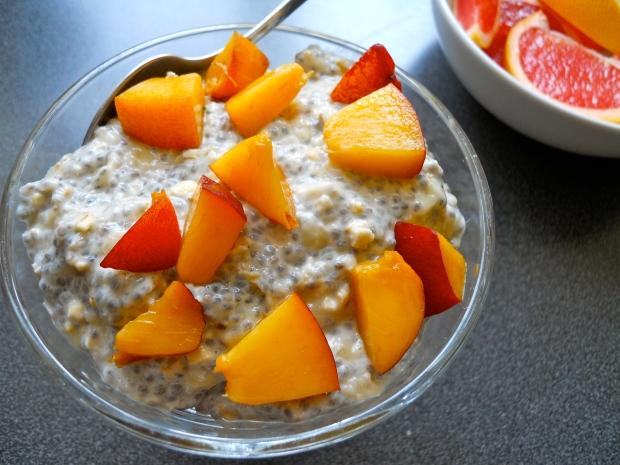 Nectarine chia bowl