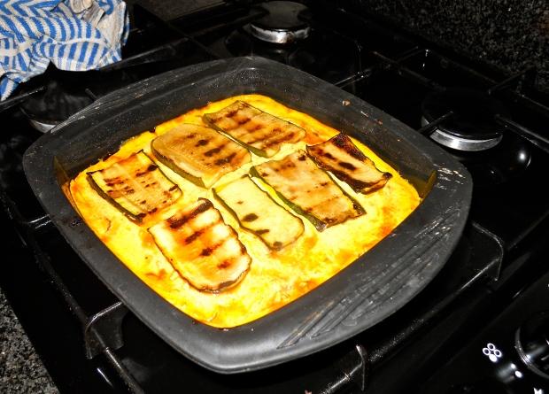 Zucchini omelette bake