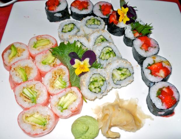 Aka vegetarian sushi platter