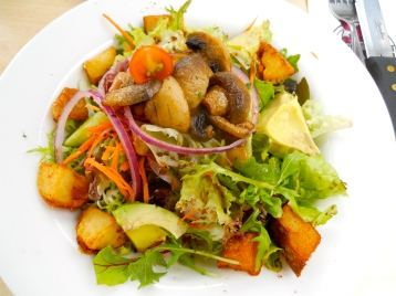 Hog's Breath Café salad and bruschetta