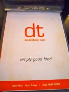 Doubletake menu