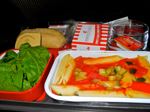 Qantas vegan meal 1