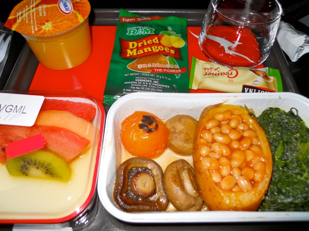 Qantas vegan meal 3