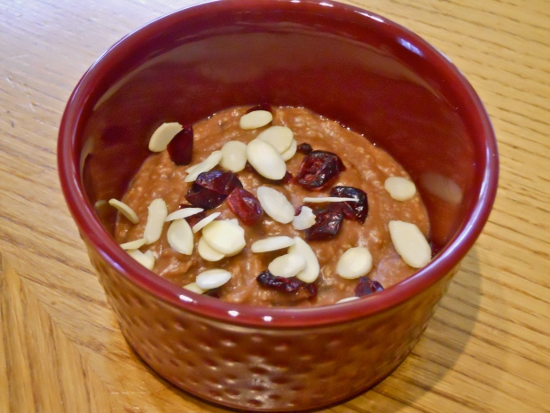 Chocolate-cranberry-almond oatmeal