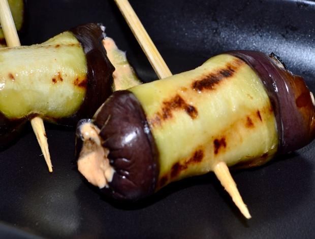 Provencale aubergine rolls