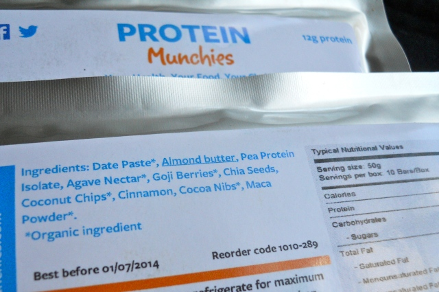 Protein Munchies nutrition