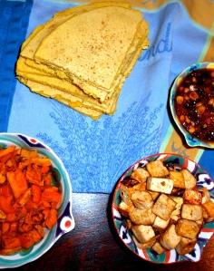 Tex-mex Indian fusion dinner
