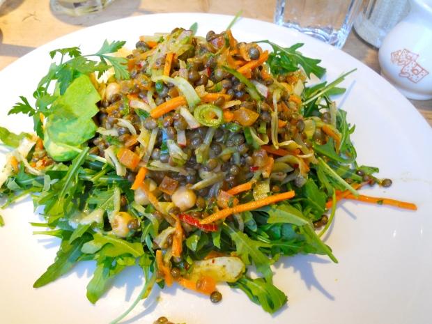 Lentil salad at Le Pain Quotidien