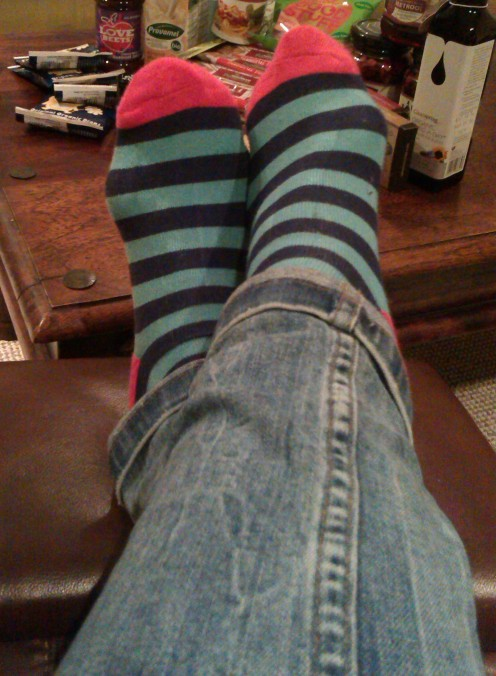 BAM wide stripe socks