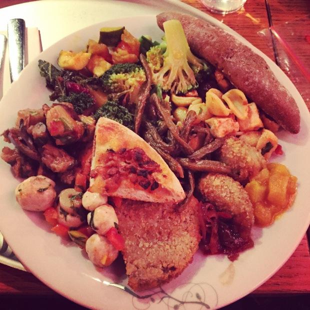 Tibits vegan plate