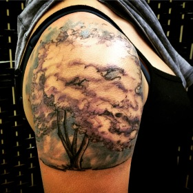Cherry tree tattoo