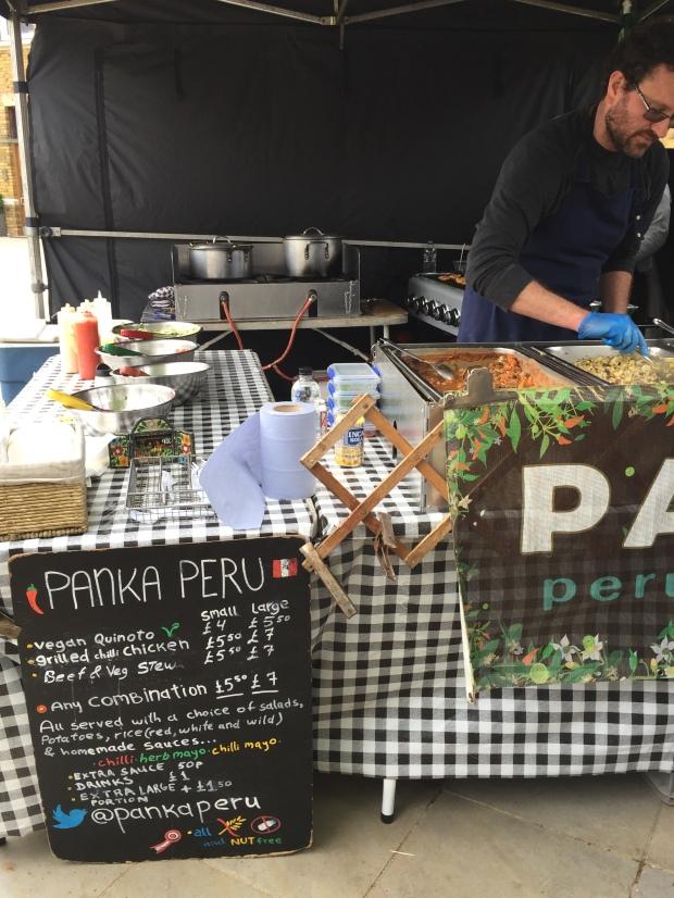 Duke of York Square Market vegan Peruvian