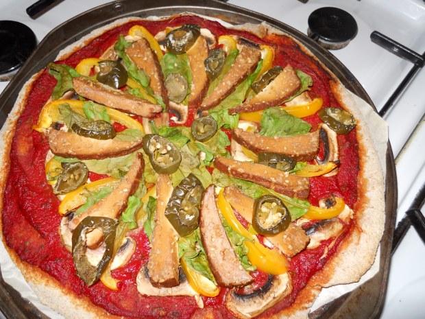 Uni vegan pizza