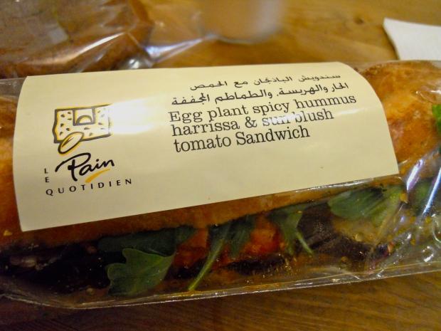 Pain Quotidien Dubai sandwich