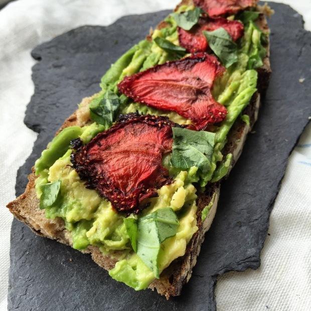 Strawberry avo toast